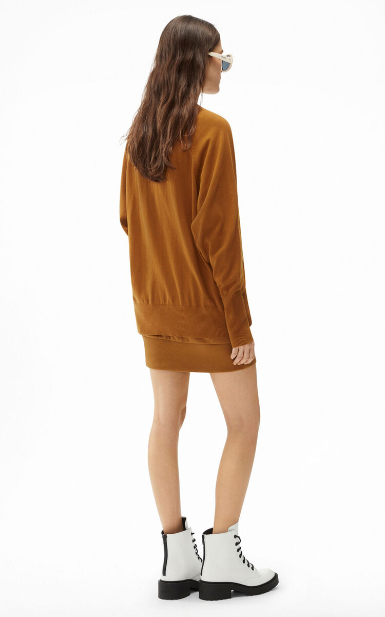 DARK BEIGE Tiger Crest jumper for women KENZO
