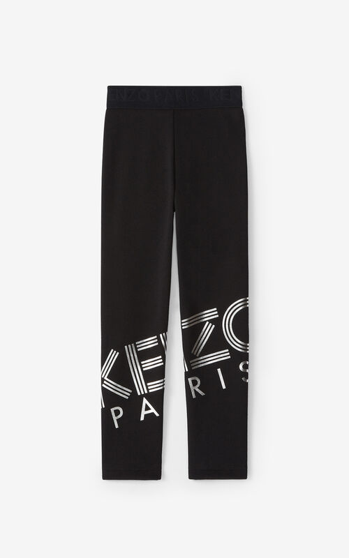 BLACK KENZO Sport leggings for unisex