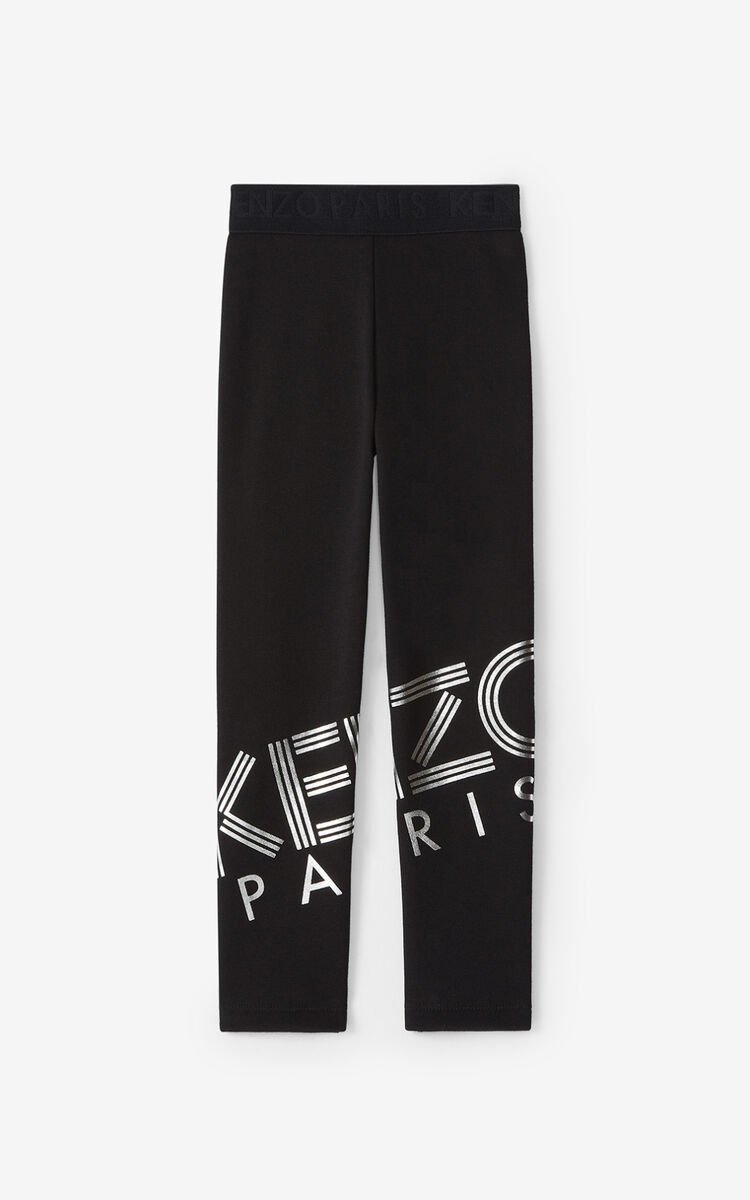 BLACK KENZO Sport leggings for women