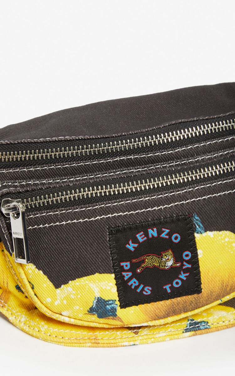BLACK 'Tomato' bumbag for women KENZO
