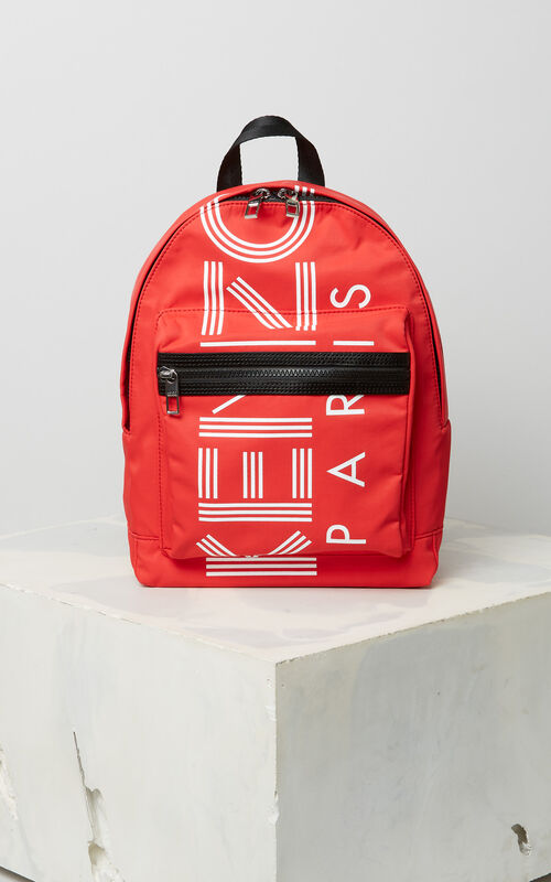MEDIUM RED Medium KENZO Logo backpack for women