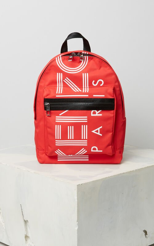 MEDIUM RED KENZO sport medium backpack for men