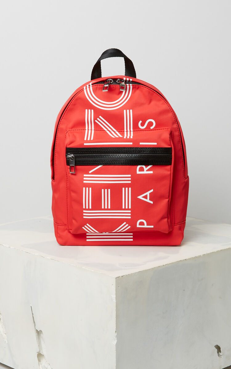 MEDIUM RED Medium KENZO Logo backpack for men
