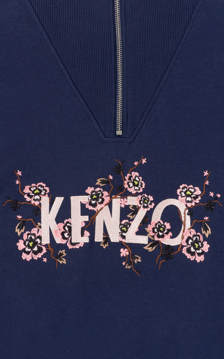 INK 'Cheongsam Flower' boxy sweatshirt for women KENZO