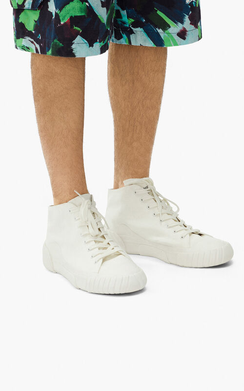 WHITE Tiger Crest high-top trainers   for women KENZO