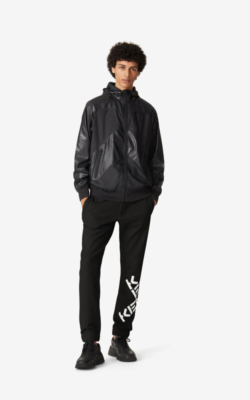 BLACK Little X' KENZO Sport windbreaker for men
