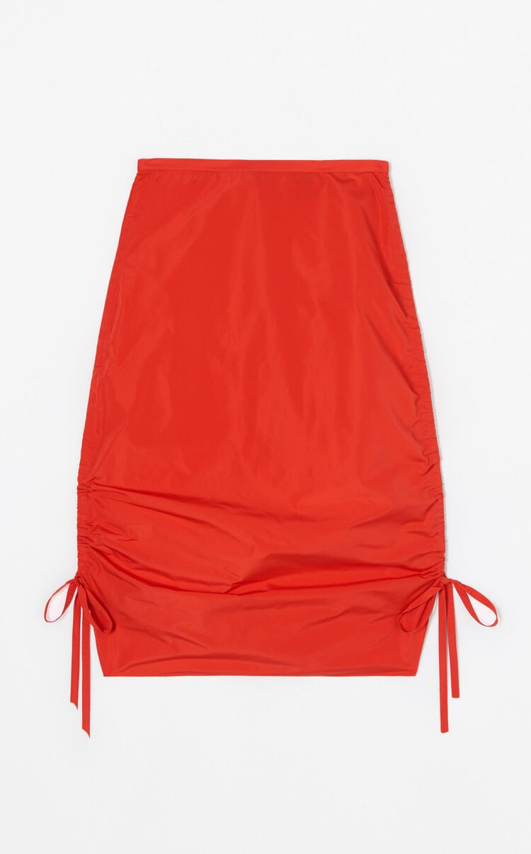 MEDIUM RED Pencil skirt with drawstring for women KENZO