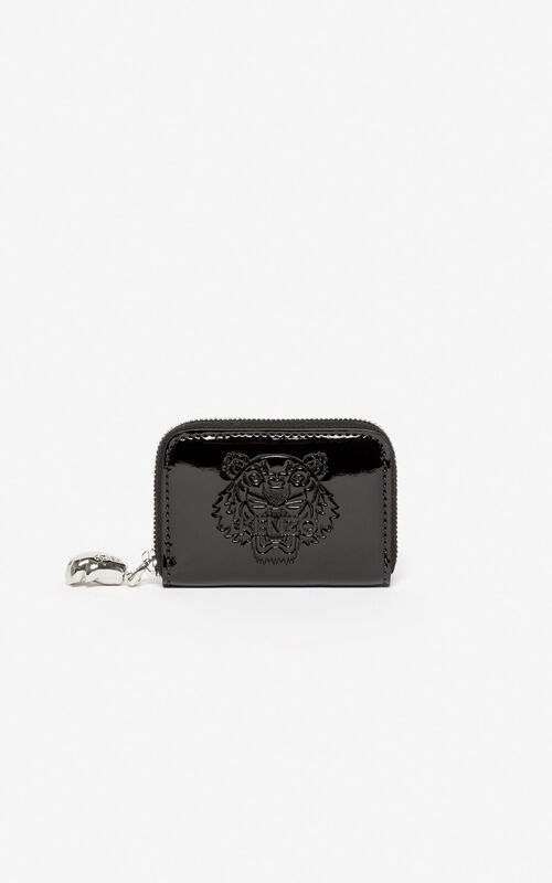 BLACK Tiger coin purse for women KENZO