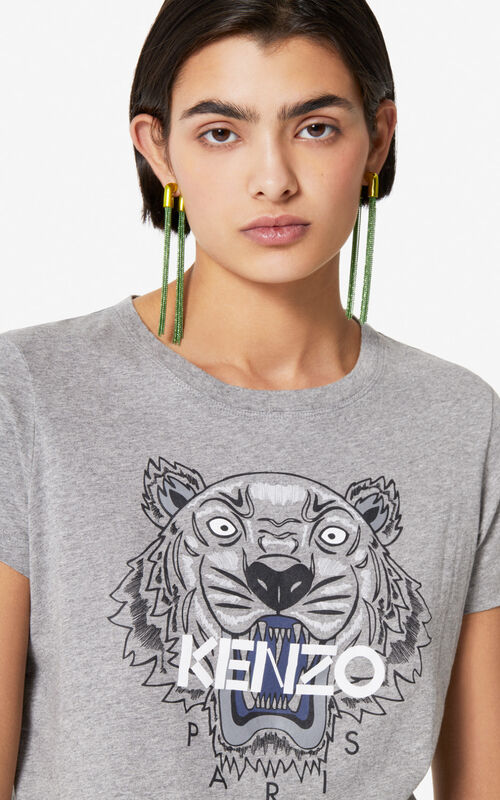 DOVE GREY Tiger t-shirt for women KENZO