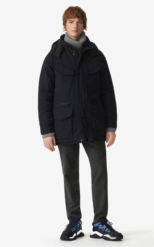 BLACK Winter parka for men KENZO