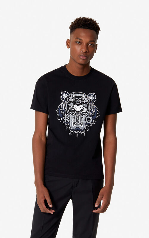 0bac3da99ac BLACK Tiger t-shirt for men KENZO ...