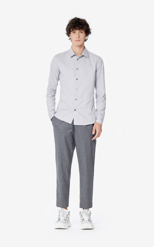 PEARL GREY Slim-fit shirt for men KENZO