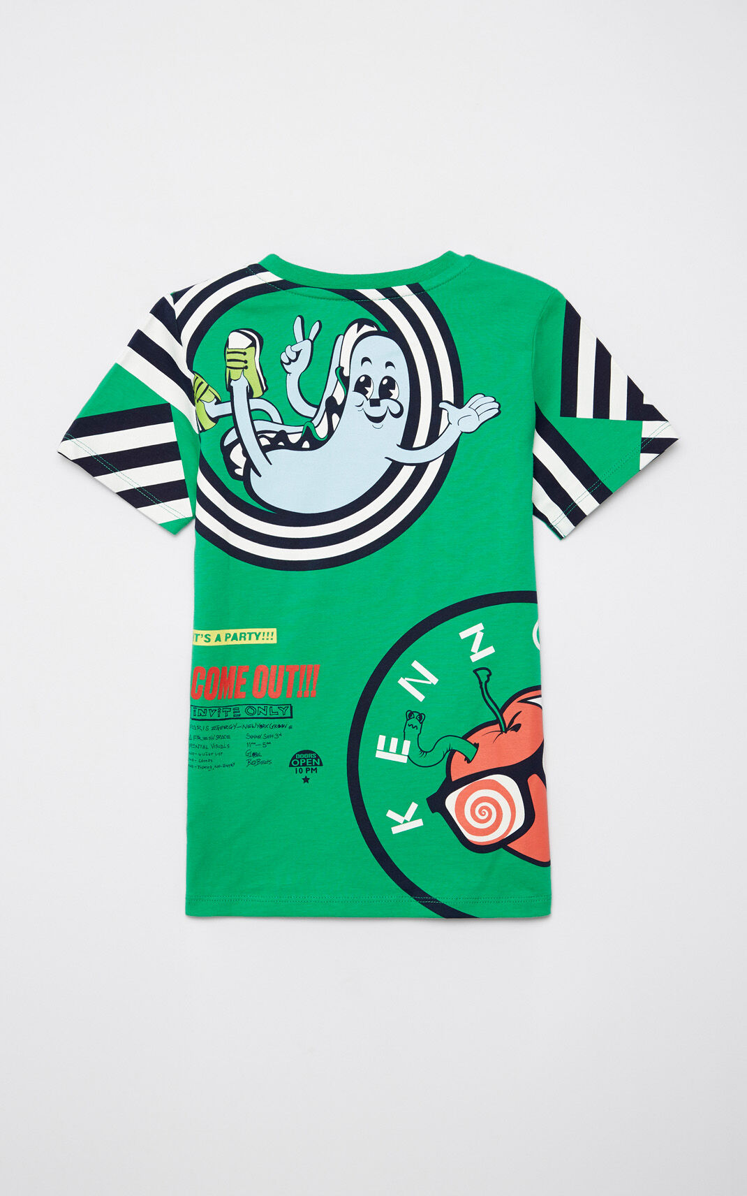 GREEN Multi-logo t-shirt for men KENZO