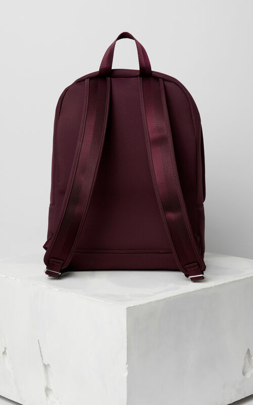 BORDEAUX Large Neoprene Tiger backpack for men KENZO