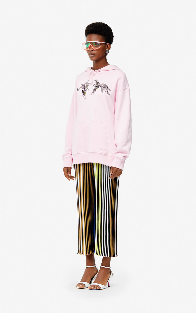 PASTEL PINK 'Flying Phoenix' hoodie for women KENZO