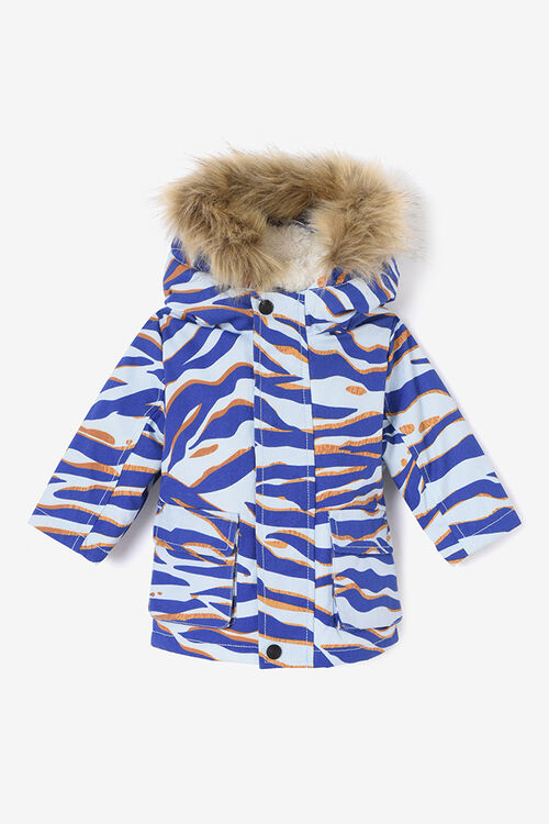 SKY BLUE Parka Tiger Stripes for women KENZO