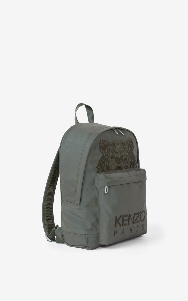 BRONZE Canvas Kampus Tiger backpack for women KENZO