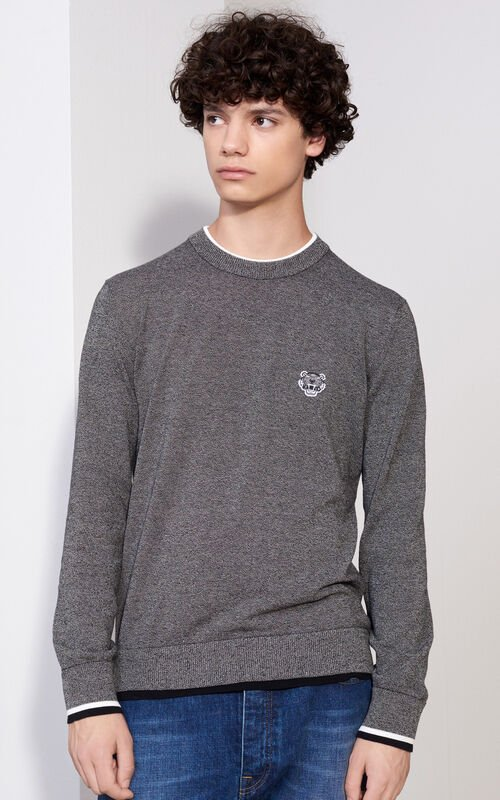 Tiger Crest Sweater, ANTHRACITE, KENZO