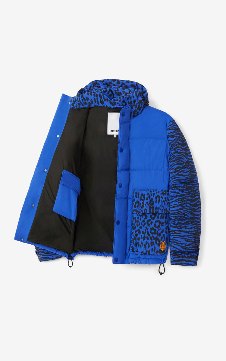 ROYAL BLUE Puffer jacket for women KENZO