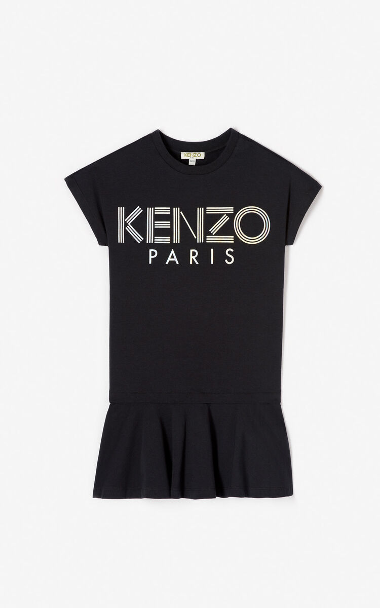 BLACK KENZO logo dress for men
