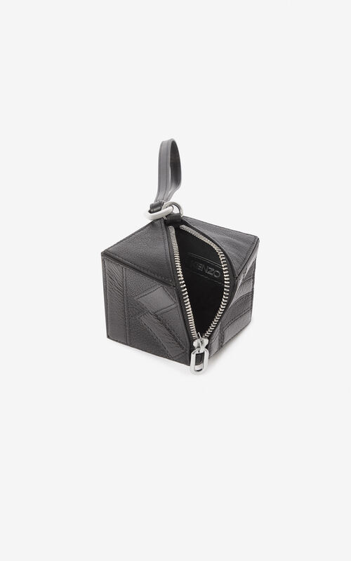 BLACK Kube purse for unisex KENZO