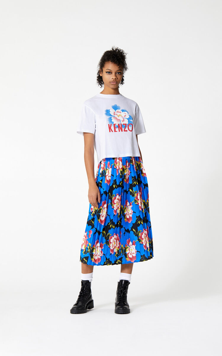 ea15a97b Boxy 'Indonesian Flower' t-shirt for OUTLET Kenzo | Kenzo.com