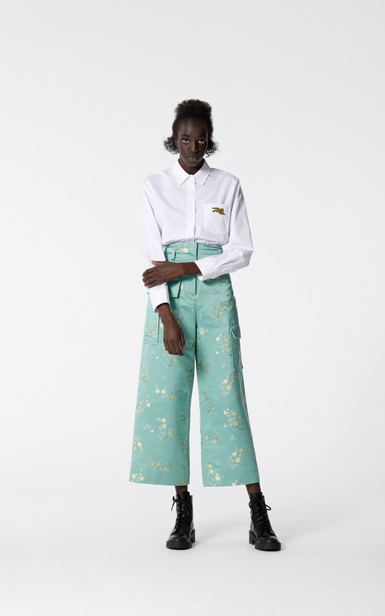 MINT 'Cheongsam Flower' 7/8-length trousers for women KENZO