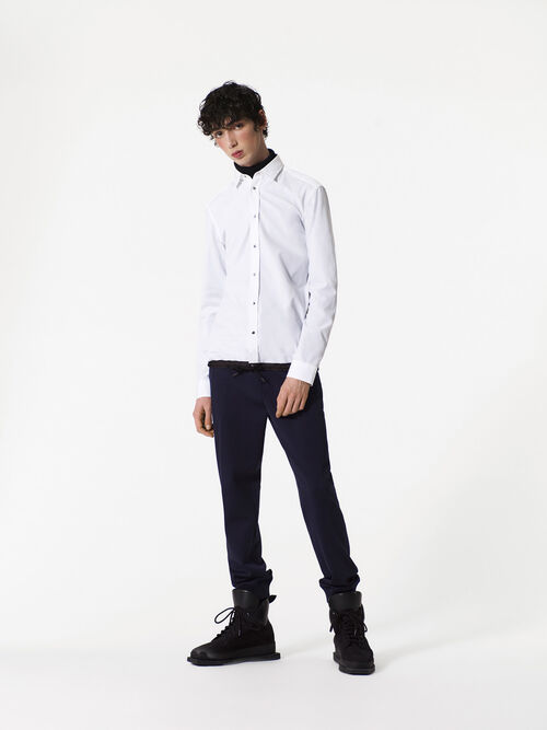 WHITE Drawstring Shirt for men KENZO
