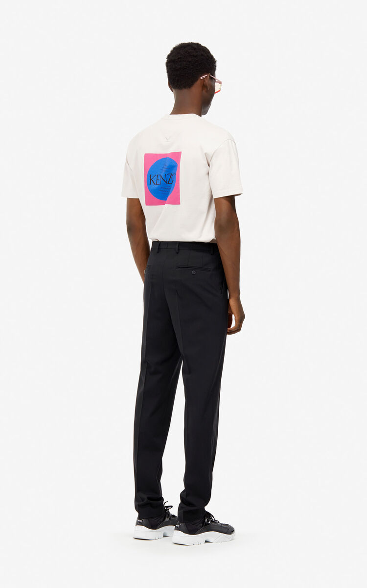 CREAM 'Square Logo' T-shirt for women KENZO