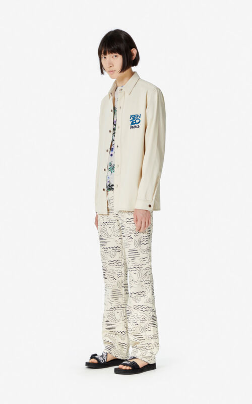 ECRU Denim shirt for men KENZO