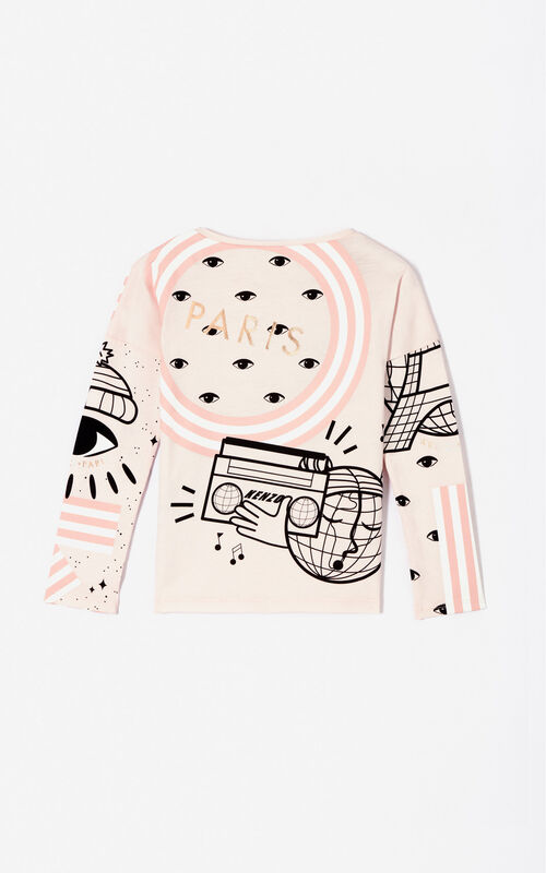FADED PINK Multi-icon 'Cosmic' t-shirt for women KENZO