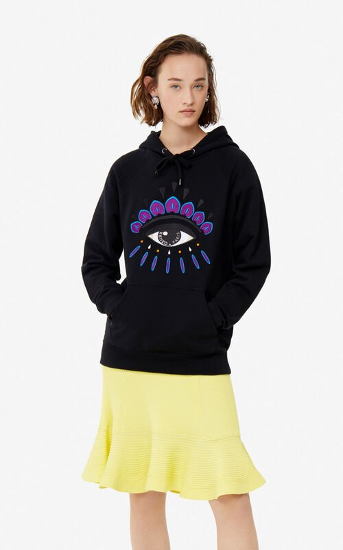 BLACK Eye hoodie for women KENZO