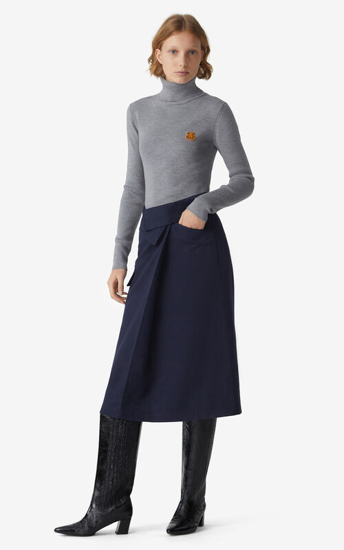 NAVY BLUE Midi skirt  for women KENZO