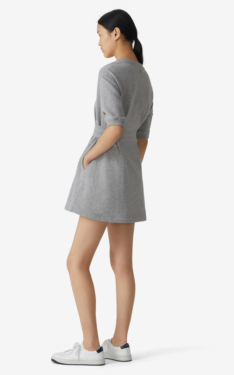 PEARL GREY Tiger Crest Sweatshirt dress for women KENZO