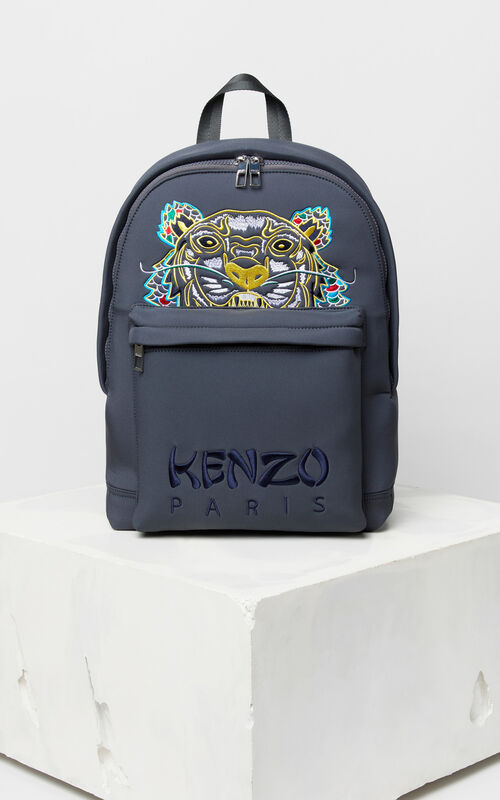 ANTHRACITE Large Neoprene 'Dragon Tiger' backpack for unisex KENZO