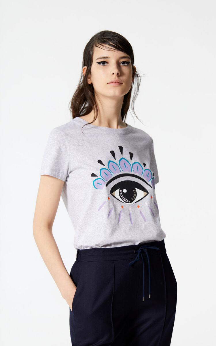 DOVE GREY Eye T-shirt for women KENZO
