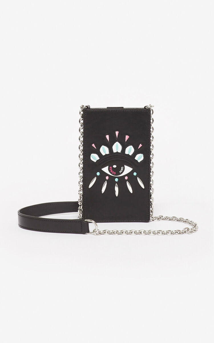 BLACK Eye phone case and chain for unisex KENZO