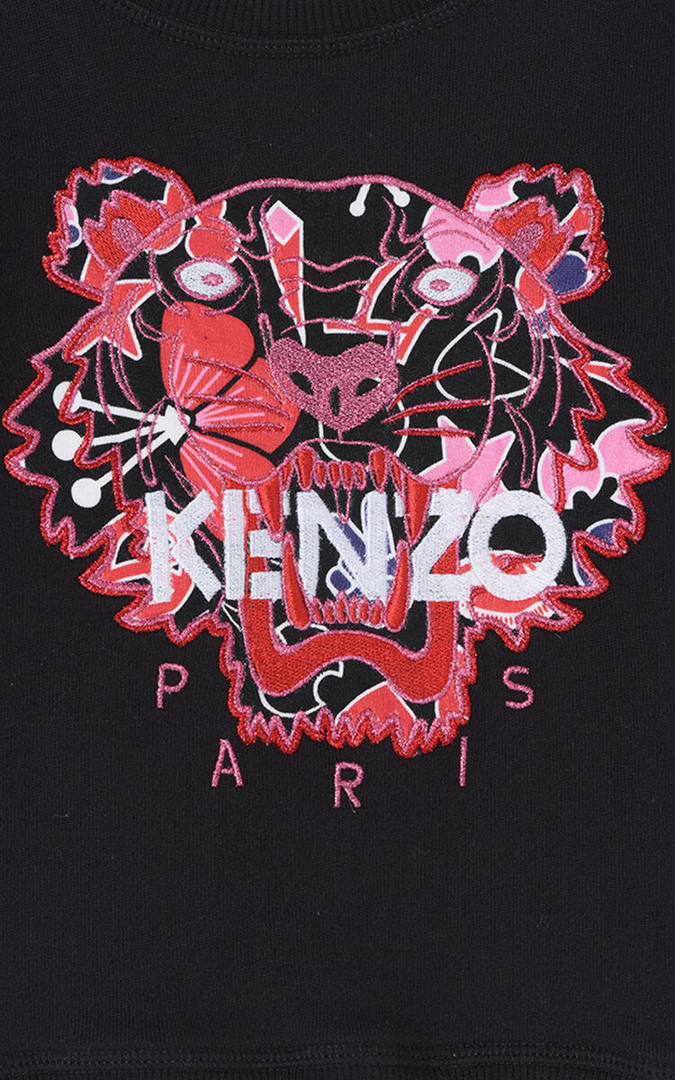 BLACK Tanimi Flowers x Tiger Sweasthirt for women KENZO