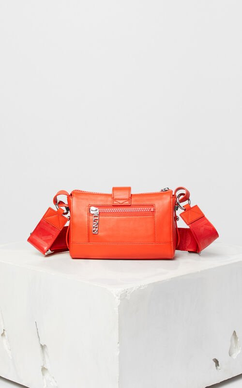 MEDIUM RED Mini Kalifornia Sport leather bag for unisex KENZO