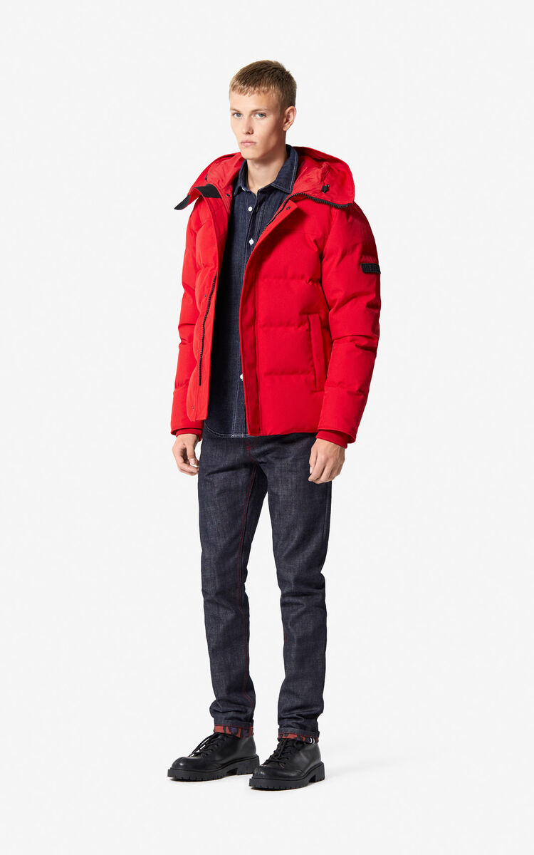 MEDIUM RED Quilted down jacket for women KENZO