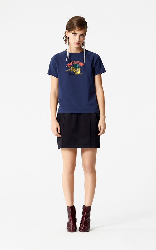 INK Bamboo Tiger' T-shirt 'Golden Week capsule' for women KENZO