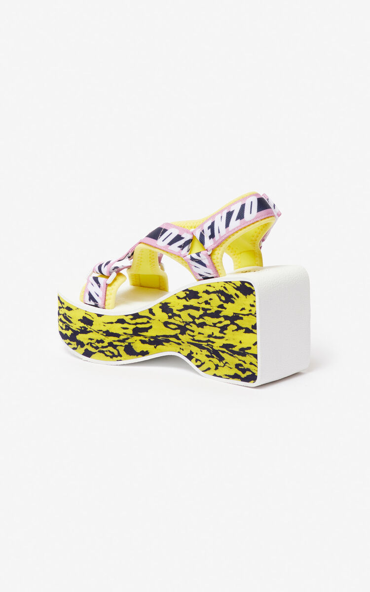 PASTEL PINK Lynn platform sandals for women KENZO