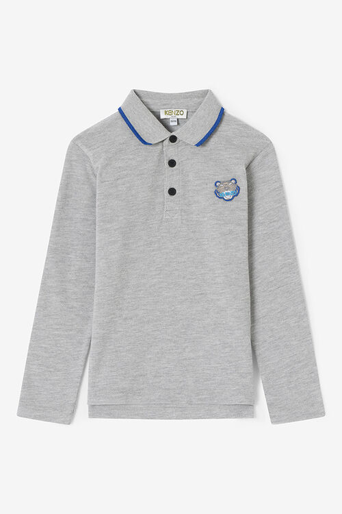 MIDDLE GREY Long Sleeve Polo Shirt  for women KENZO