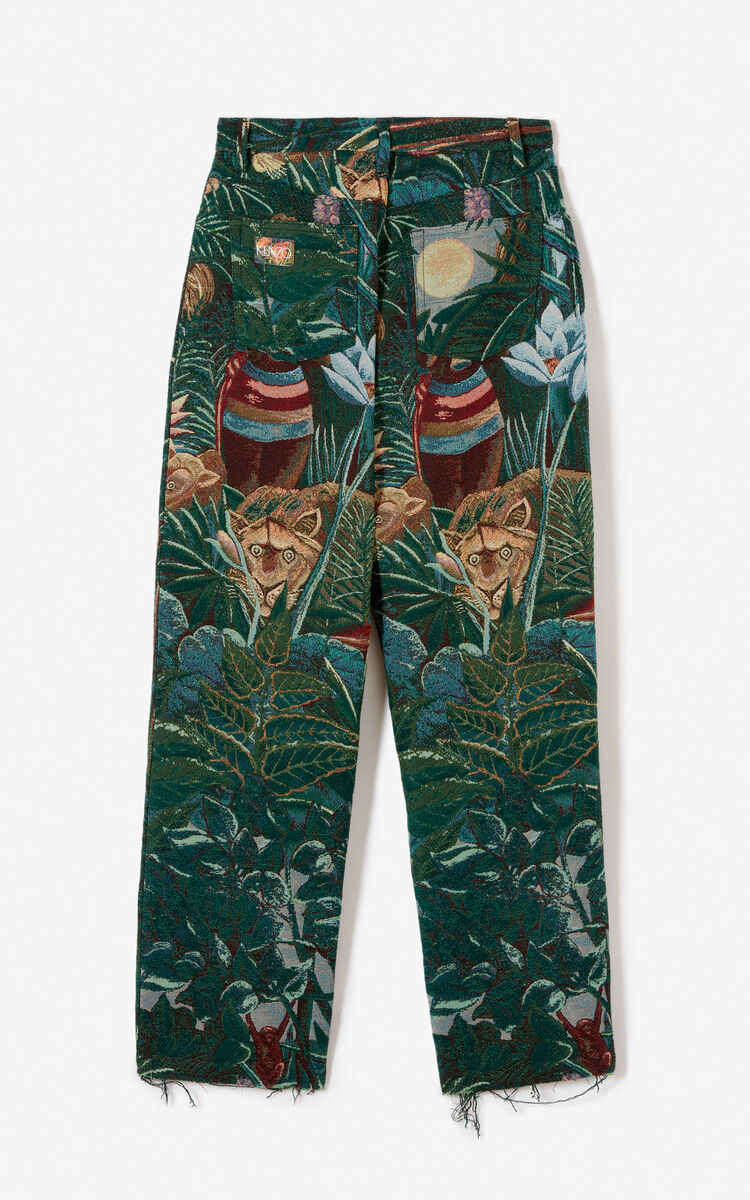 PINE Straight-cut jacquard trousers for women KENZO