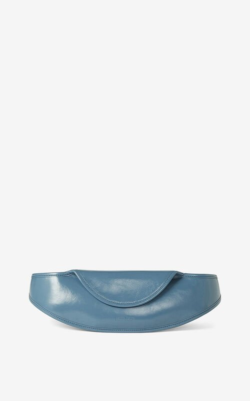 BLUE KENZO Onda leather belt bag for unisex