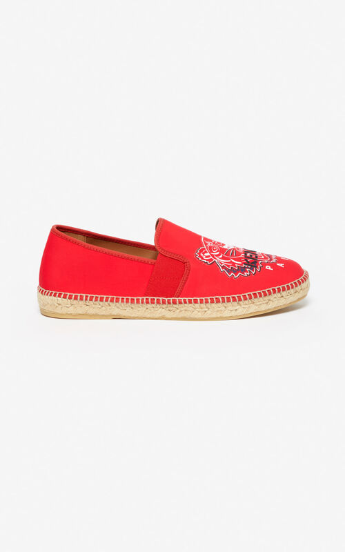 MEDIUM RED Neoprene Tiger espadrilles for unisex KENZO