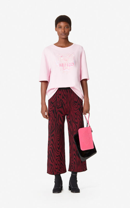 PASTEL PINK 'Monochrome Tiger' T-shirt for women KENZO