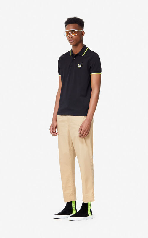 BLACK Fitted Tiger polo shirt 'High Summer Capsule collection' for men KENZO