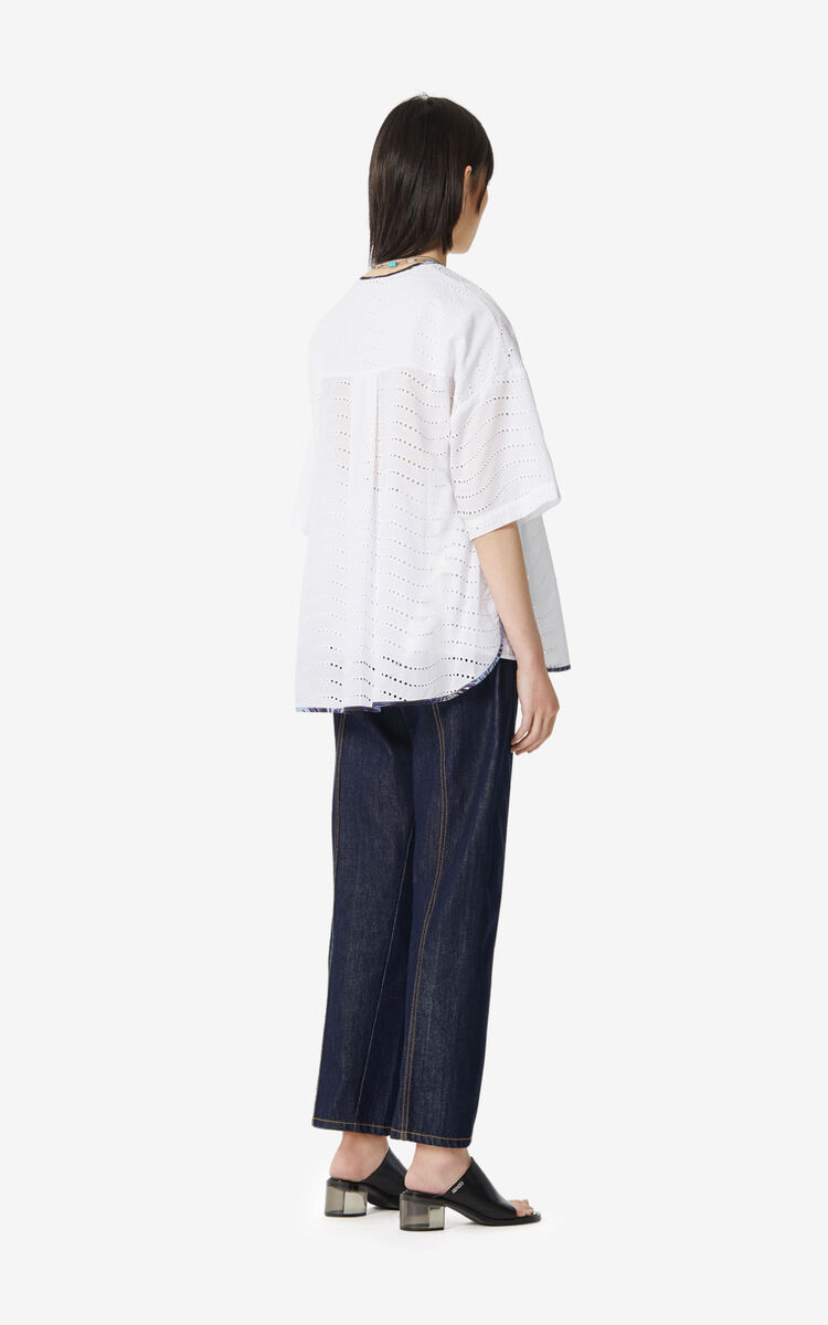 WHITE 'High Summer Capsule Collection' tunic for women KENZO