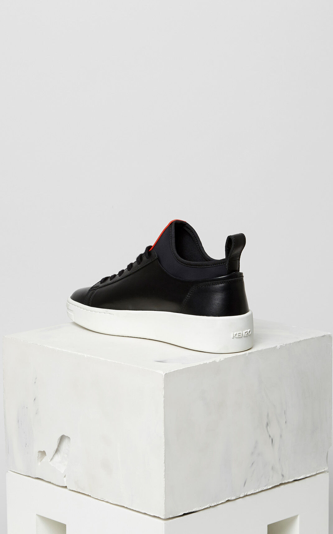 BLACK K-city leather sneakers for women KENZO